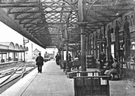 Retford Railway Station Black and White Photo