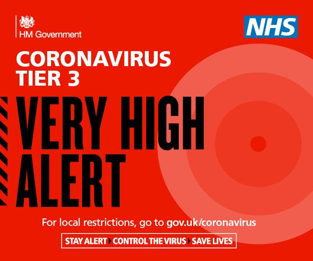 Coronavirus Very High Alert Level Red Graphic