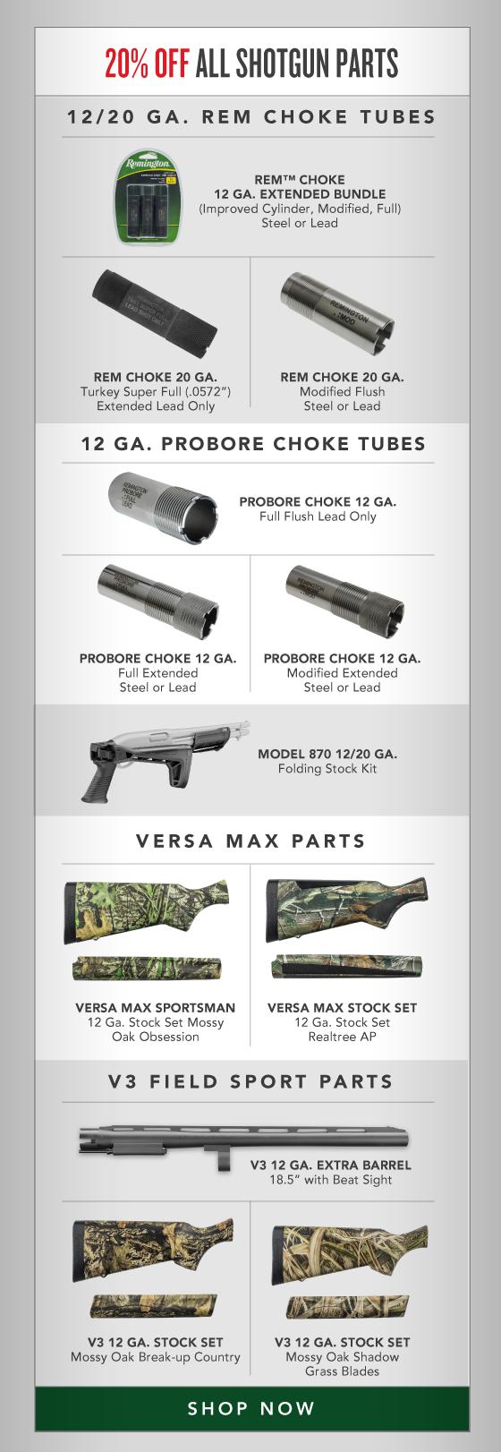 20% OFF All Shotgun Parts