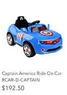 Captain America Ride On Car