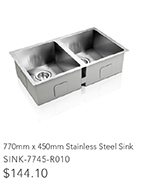 100mm x 60cm Stainless Steel Sink