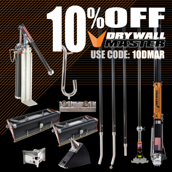 10% off Drywall Master use code 10DMAR