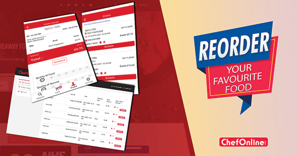 CHEFONLINE BRINGS YOU THE REORDER FEATURE!