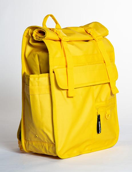Monochrome Rolltop Backpack Pannier Yellow