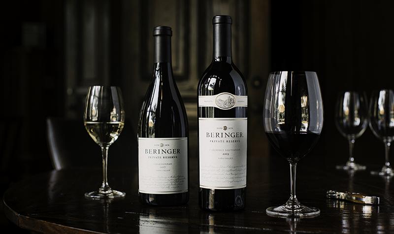 Fall Sale Banner: Beringer Private Reserve Cabernet Sauvignon & Chardonnay