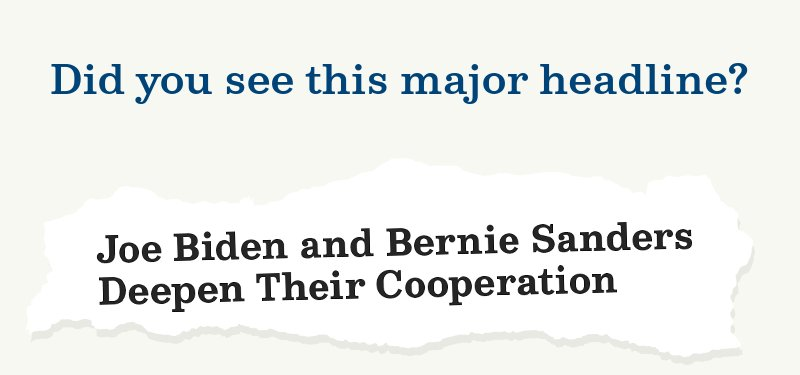 Did you see this major headline?