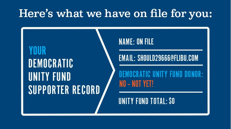 Here''s what we have on file for you