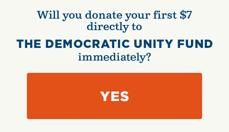 Will you donate directly to the Democratic Unity Fund?