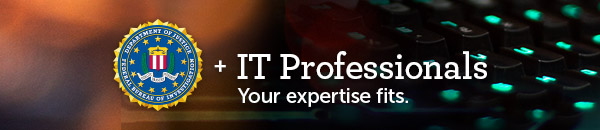 FBI + IT Professionals - Your expertise fits.