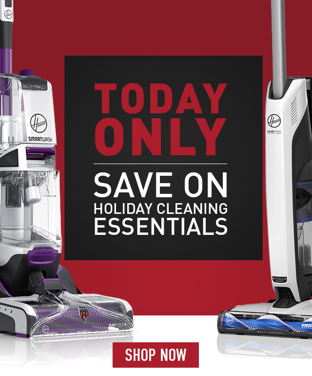 Today only, save on holiday cleaning essentials