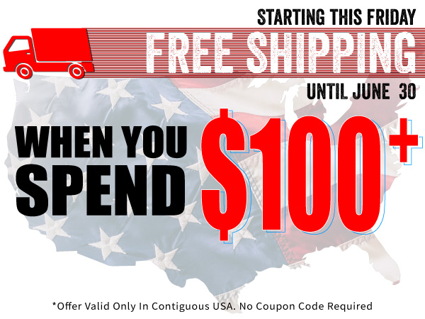Free shipping on purchases over $100