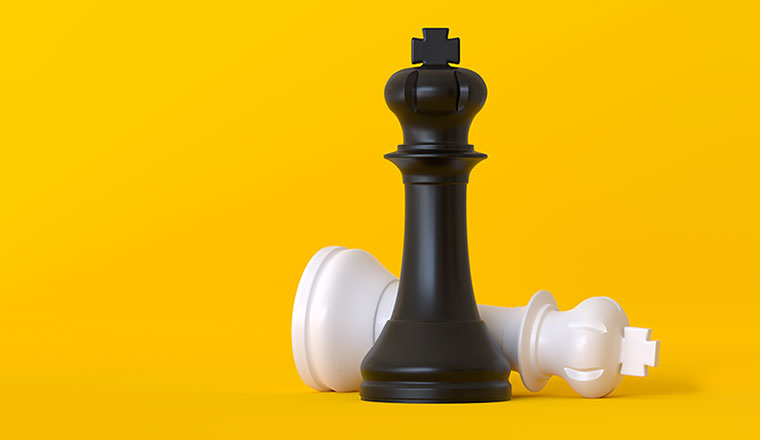 A photo of a chess strategy