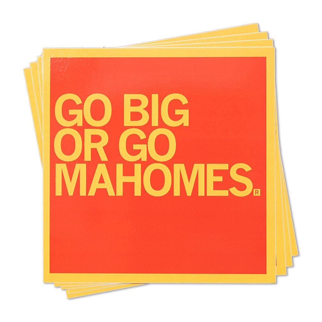 Go Big or Go Mahomes Sticker