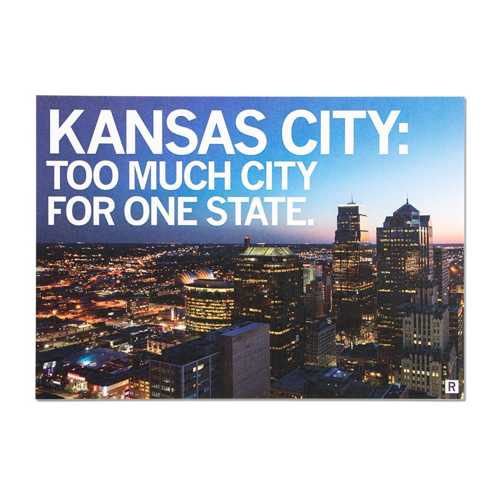Too Much City KC Photo Postcard