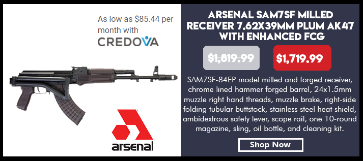 Arsenal SAM7SF-84EP 7.62x39mm Plum Semi-Automatic Rifle with Enhanced Fire Control Group