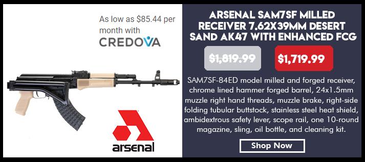 Arsenal SAM7SF-84ED 7.62x39mm Desert Sand Semi-Automatic Rifle with Enhanced Fire Control Group