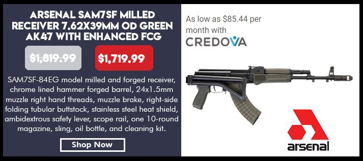 Arsenal SAM7SF-84EG 7.62x39mm OD Green Semi-Automatic Rifle with Enhanced Fire Control Group