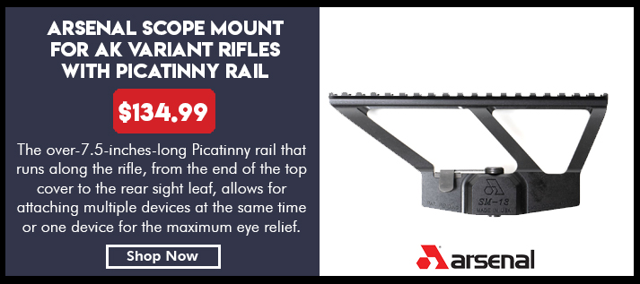 Arsenal Scope Mount for AK Variant Rifles with Picatinny Rail