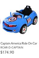 Captain America Ride On Carn