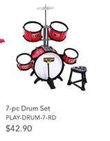 7-Pc Drum Set
