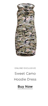 Sweet Camo Hoodie Dress