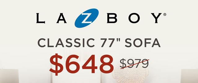 "La-Z-Boy Classic 77"" Sofa - $648"