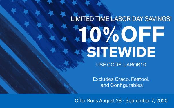 labor day 10% off