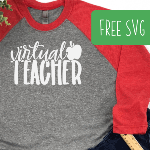 Free Virtual Teacher SVG for Silhouette Portrait or Cameo and Cricut Explore, Maker, or Joy - by cuttingforbusiness.com