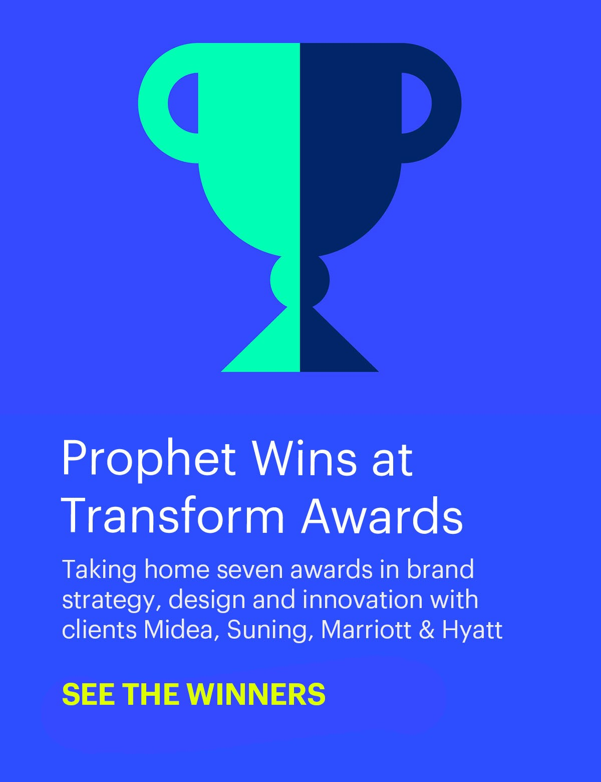 Prophet takes home seven awards at Transform Awards Asia-Pacific
