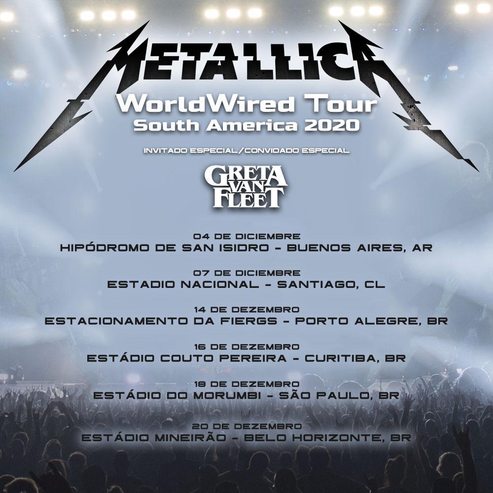 Rescheduled Metallica South American Tour Dates