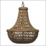 Jamie Young jute-macrame-chandelier