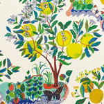 Schumacher Citrus Garden Primary Wallpaper