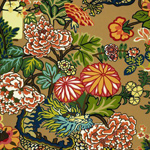 Schumacher Chiang Mai Dragon Mocha Fabric