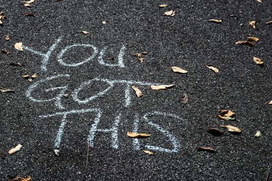 you got this in chalk on sidewalk