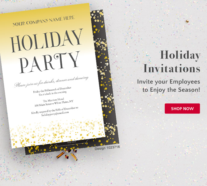 Holiday Invitations: invite your Employees to Enjoy the Season - Shop Now
