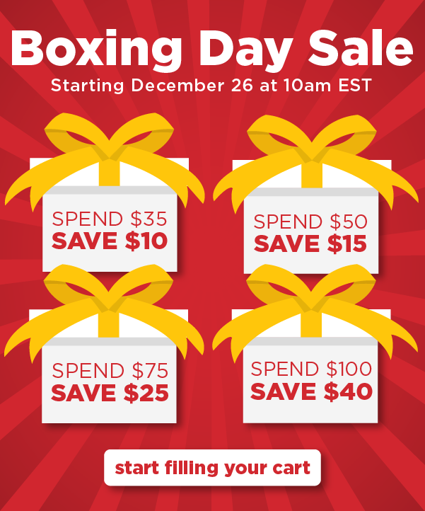 Save up to $40 off starting December 26 at 10am EST!