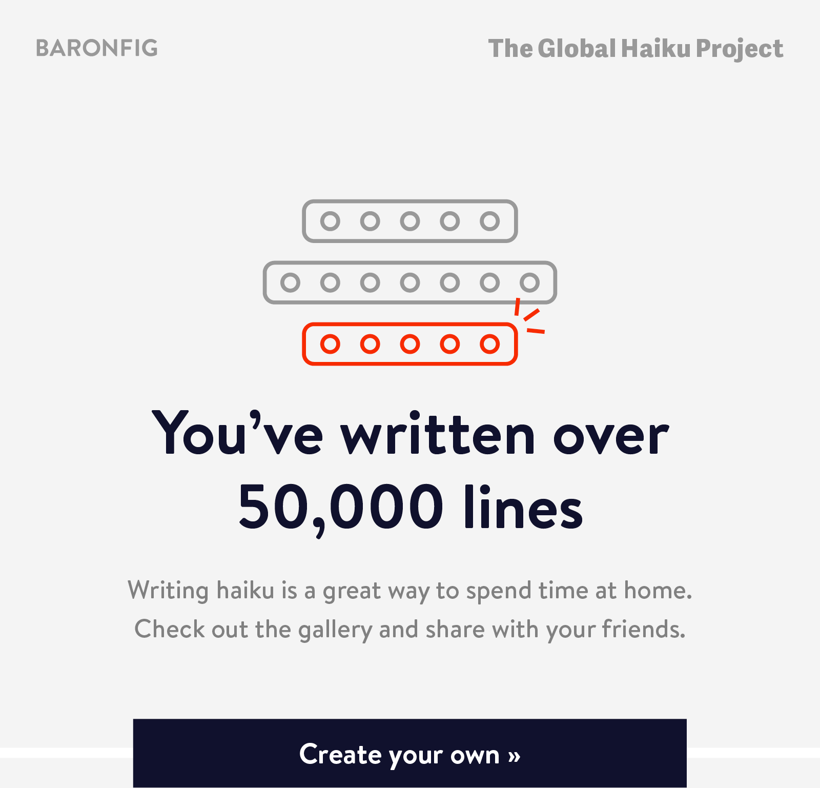 The Global Haiku Project-You''ve written over 50,000 lines! Create your own ?