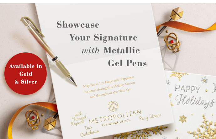 Showcase Your Signature with Metallic Gel Pens - Available in Gold & Silver