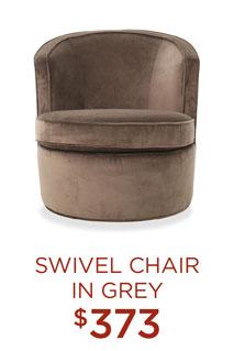 Swivel Chair in Grey - $373