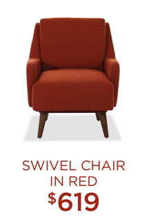 Swivel Chair in Red - $619
