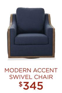 Modern Accent Swivel Chair - $345