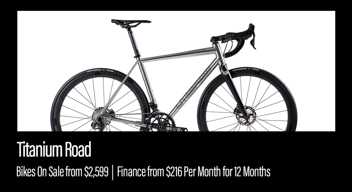 Shop titanium road bikes from $2,599