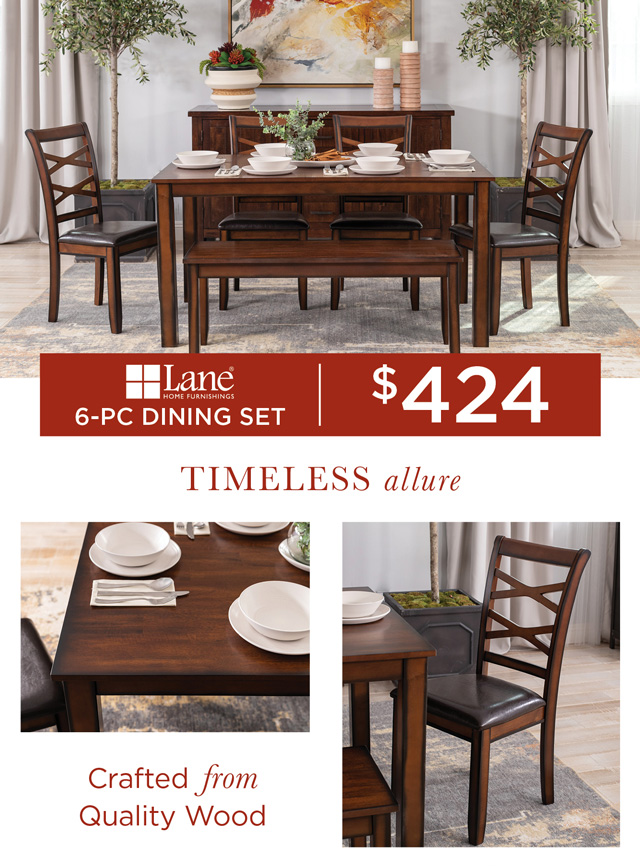 Six-Piece Dining Table Set
