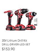 20V Lithium Drill Kit