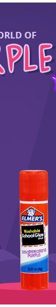 Elmer''S Disappearing Purple School Glue Sticks - .21 Oz - 6 Pack