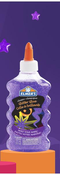 Elmer''S Washable Classic Glitter Glue 6 Oz. Bottle Purple (E326)