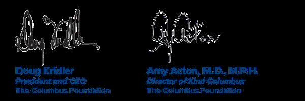 Doug Kridler and Dr. Amy Acton