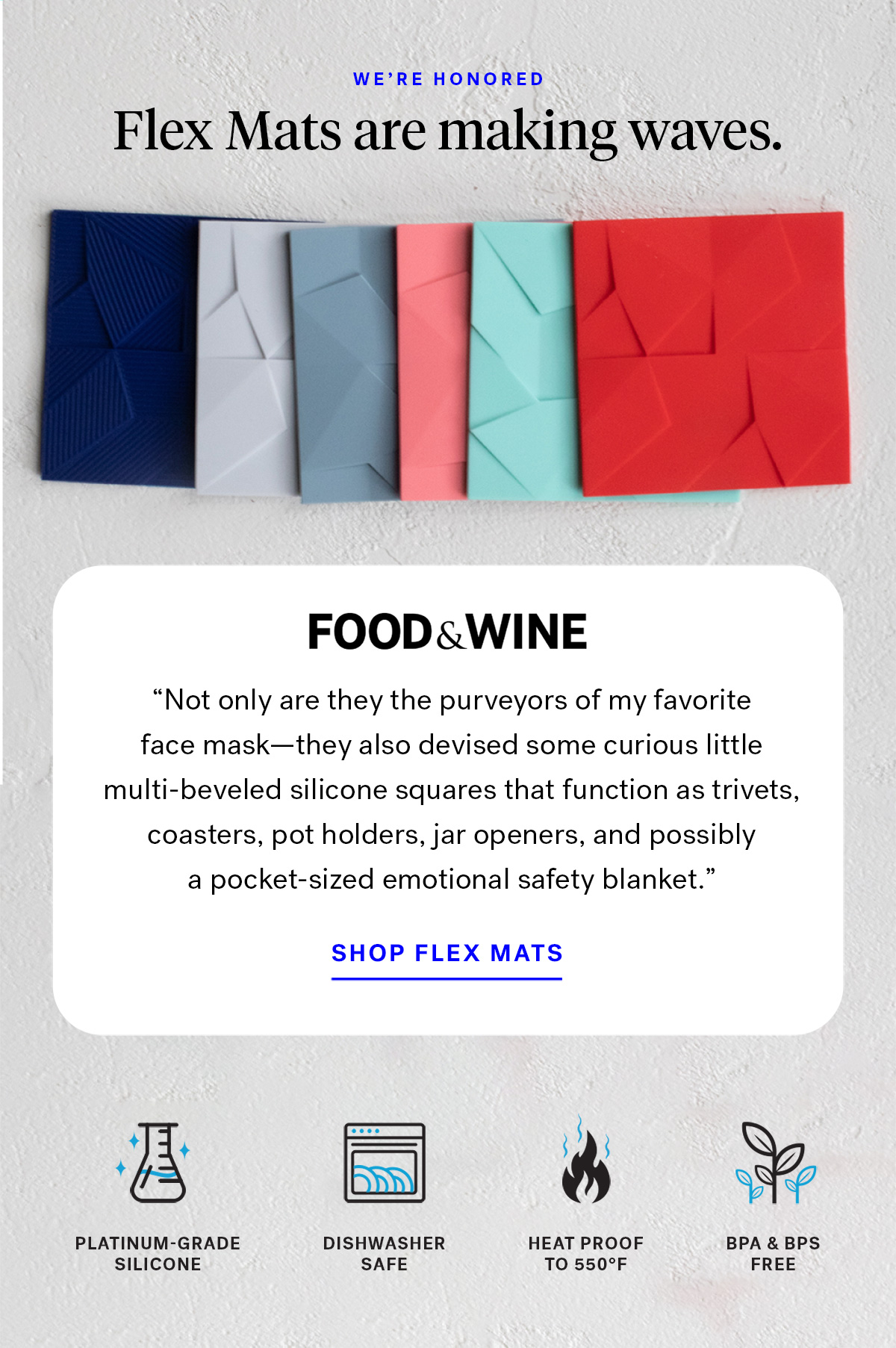 We're honored