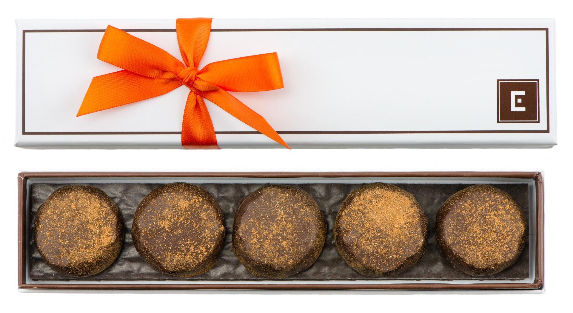 5 Piece Mini Pumpkin Spice Pecan Caramels