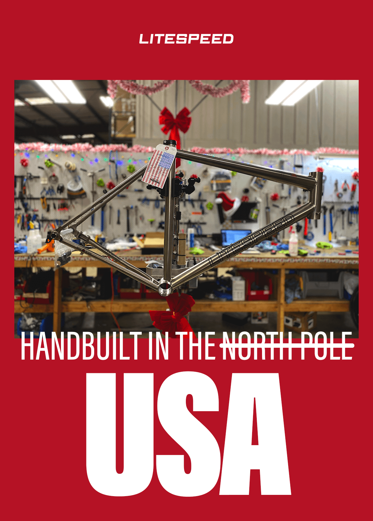 Handbuilt in the USA: Didn't get the titanium bike of your dreams this holiday season? You're in luck.